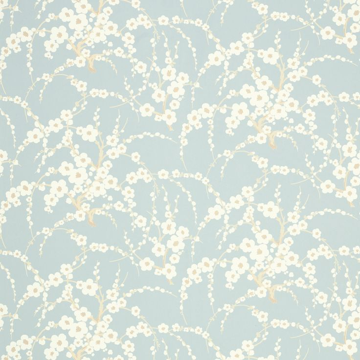 Lori Duck Egg Floral Wallpaper