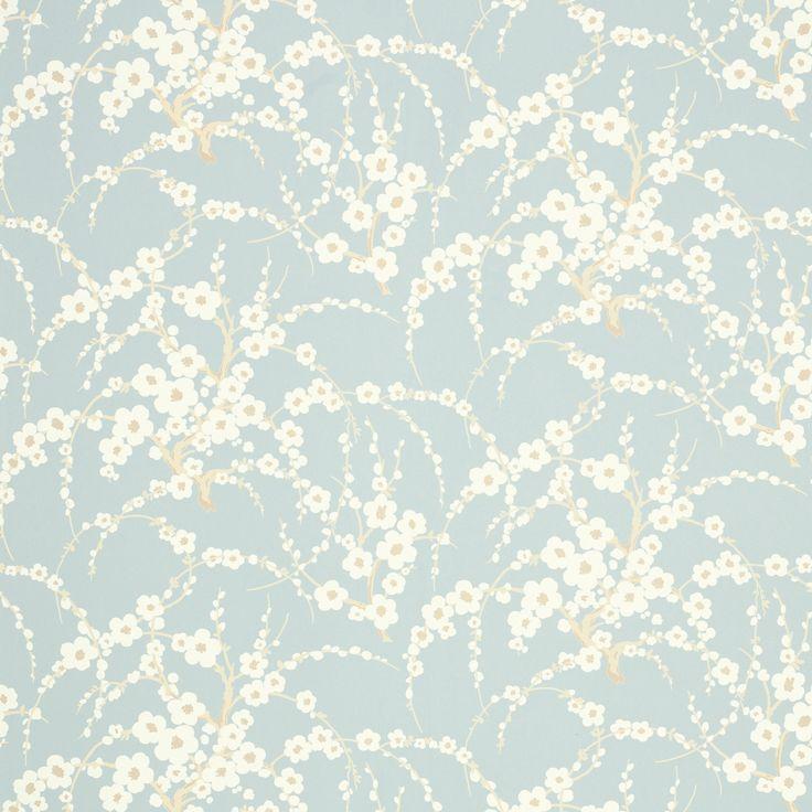 laura ashley lori duck egg floral wallpaper duvar. Black Bedroom Furniture Sets. Home Design Ideas
