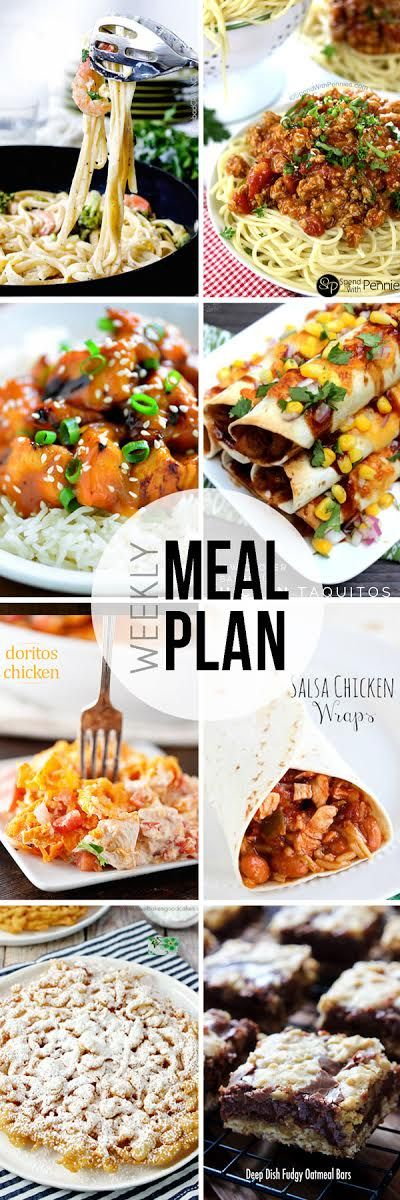 Easy Meal Plan Sunday #7 - 6 dinner and 2 dessert recipes from your favorite bloggers to make your meal planning easier!