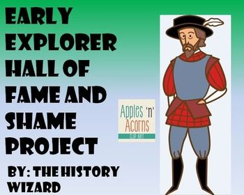 This project lets students explore European Exploration of the Americas. Students will create a poster and perform a short presentation about their explorer. Students will make a decision about whether their explorer belongs in the Hall of Fame or Hall of Shame.
