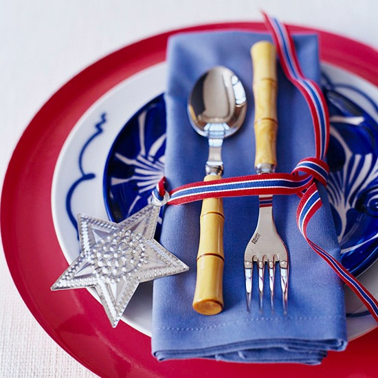 Easy 4th Of July Party Ideas Napkin Ideasblue Table Settingsred