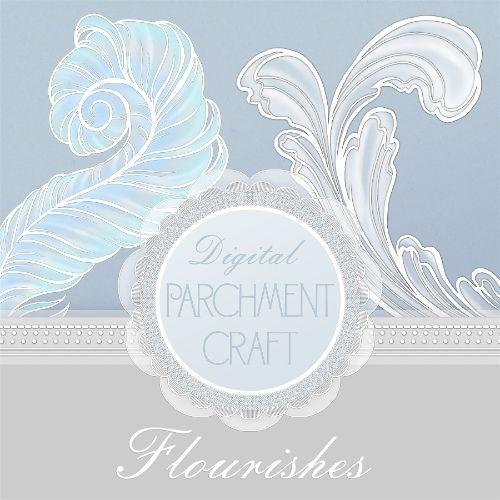 Parchment Flourishes By DaisyTrail
