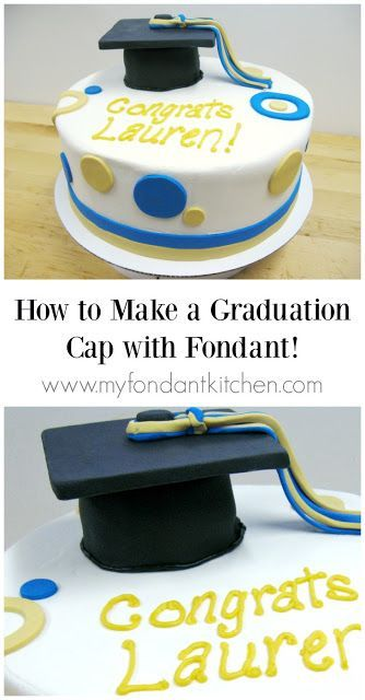 how to make graduation cap with fondant