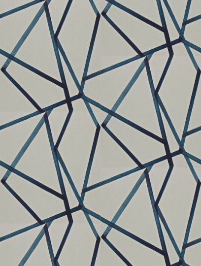 Sumi Linen/Indigo  in linen/indigo, a feature wallpaper from Harlequin, featured in the Momentum 3 Wallpapers collection.