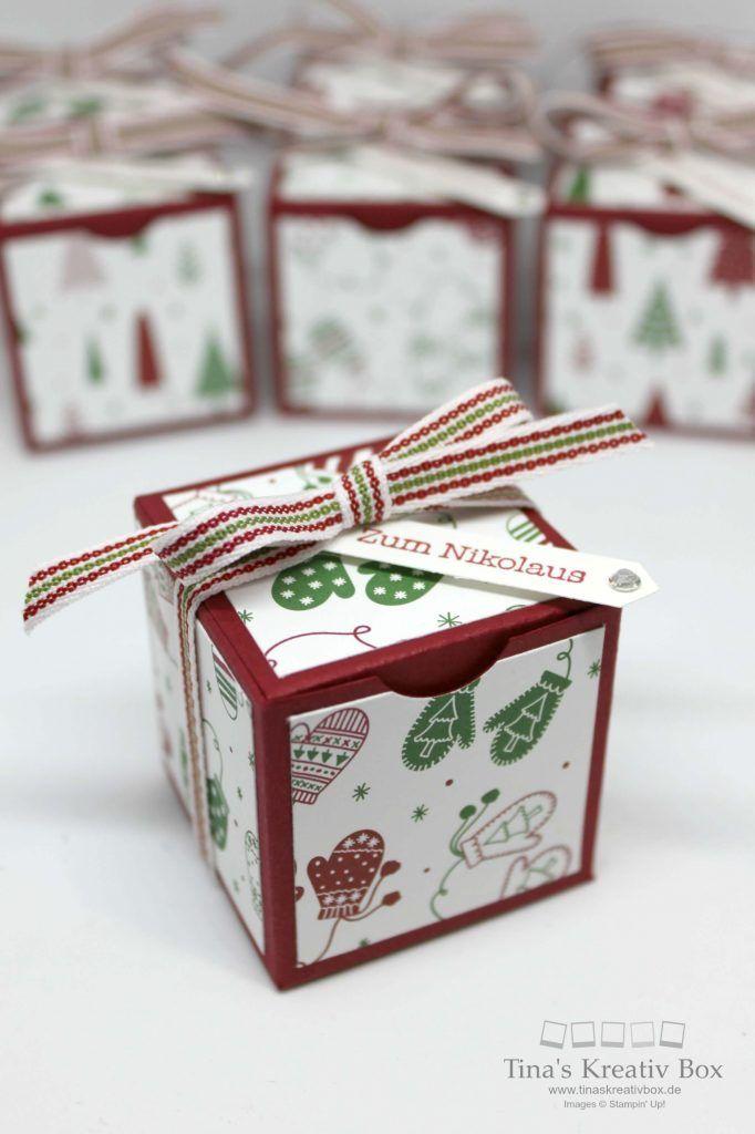 Kleine Nikolaus Boxen - mit Produkten von Stampin' Up!