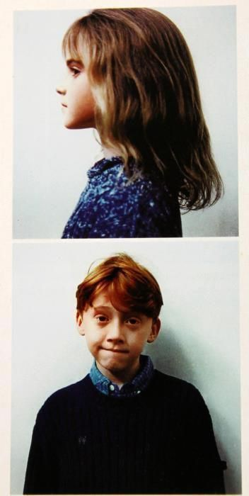 Hermoine Granger and Ron Weasley; played by Emma Watson and Rupert Grint. #HarryPotter