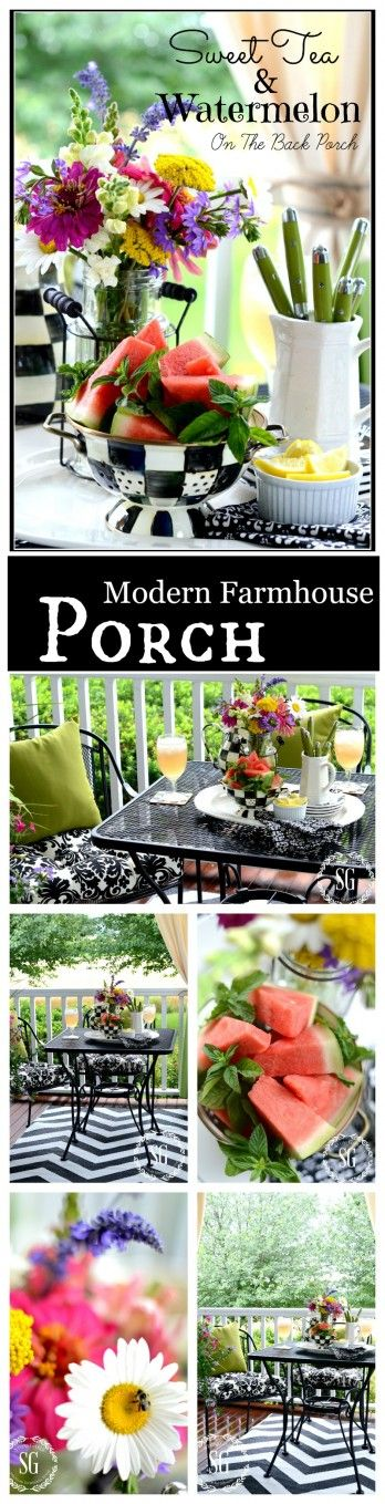 FARMHOUSE PORCH Create an easy breezy place to enjoy this summer. Here some ideas...