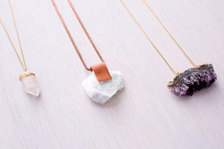 3 Ways to Turn Any Precious Gem into a Necklace via Brit + Co.