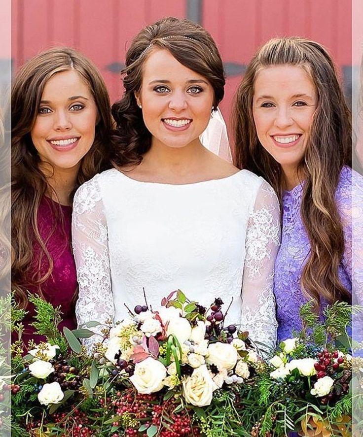 Jessa Duggar Seewald(23), bride Jinger Duggar Vuolo(22)& Jill Duggar Dillard(25) on November 5,2016.