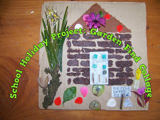 A Pretty Talent Blog: School Holiday Project: Making A Collage With Found Garden Objects