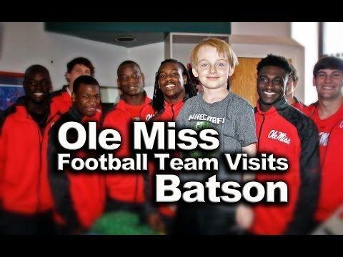 Ole Miss Football Team Visits Batson Children's Hospital | http://newsocracy.tv