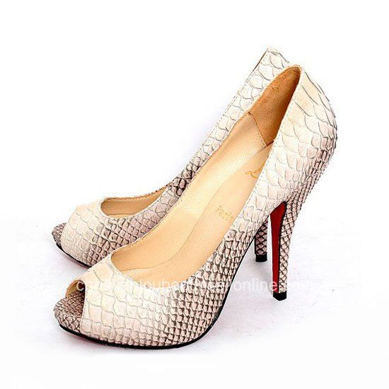 Christian Louboutin Python Peep Toe Pumps Pink For Cheap