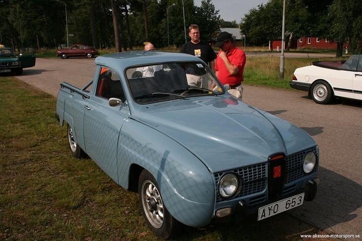 Saab 95 pickup conversion.  Swedan.