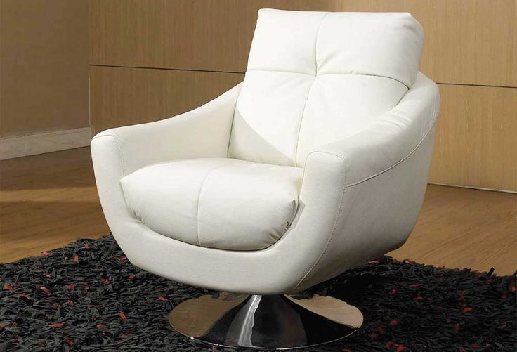 Leather WHite Swivel CHair