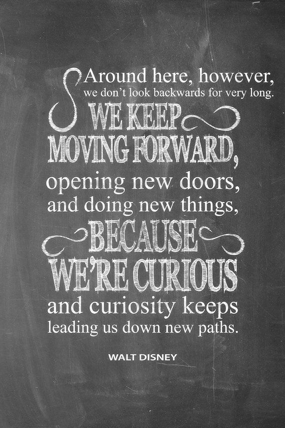 Inspirational Walt Disney Quotes: Walt Disney Quote Keep Moving Forward By McLeodTypography