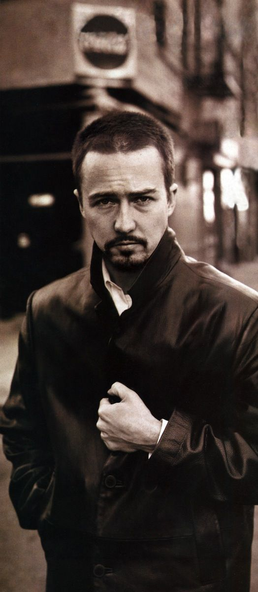 Best Performance by an Actor in a Supporting Role:  Edward Norton, Birdman or (The Unexpected Virtue of Ignorance)    Photographed by Michael Williams, Vogue, January 1997
