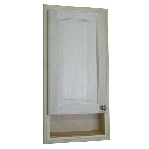 Recessed in the wall between studs! easy installation. Simply put construction adhesive (not included) on the back side of the frame and push it into the opening in your drywall. Three fully adjustable glass shelves. Concealed hinges, door is left undrilled for a knob or handle so you can mount... see more details at https://bestselleroutlets.com/home-kitchen/furniture/bathroom-furniture/product-review-for-wood-cabinets-direct-baldwin-recessed-in-the-wall-baldwin-medicine-sto