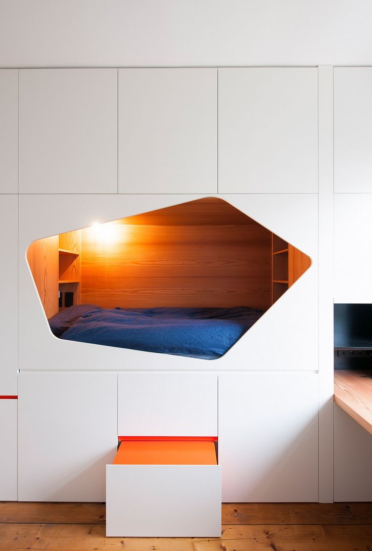Ingenious Built-in Beds Exhibited by Modern Redesign Project in Belgium