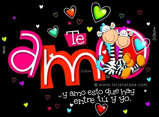 Ambiente de amor-Cebras Ele y Gala abrazados muy enamorados © ZEA www.tarjetaszea.com