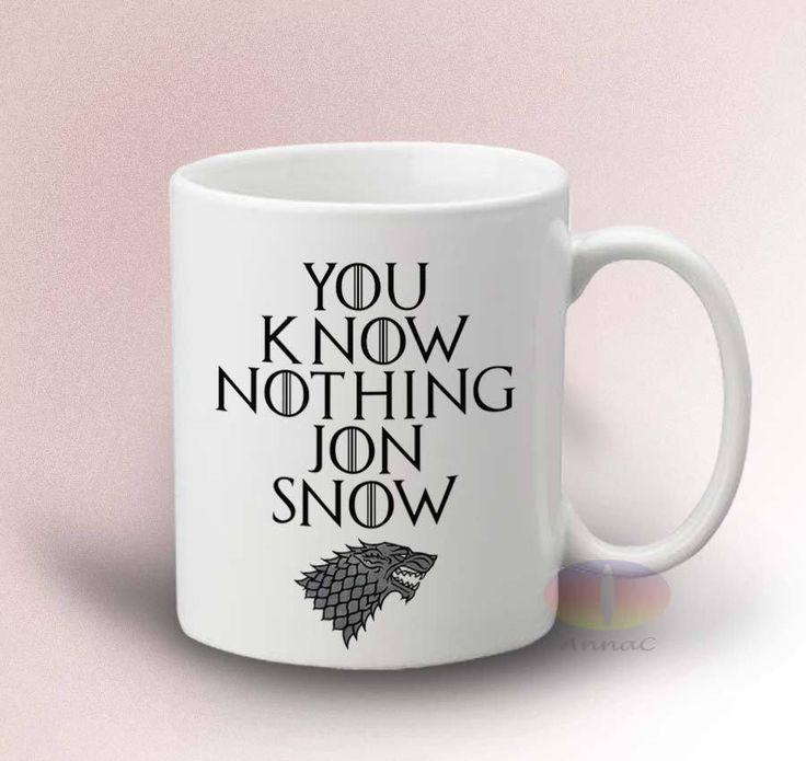 You Know Nothing Jon Snow Mug - White 11oz Ceramic Mug