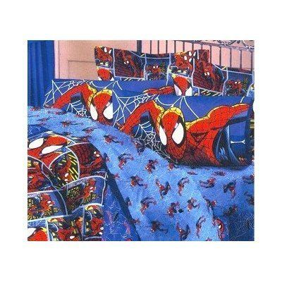 Spiderman Marvel Ultimate In The City Pillow Sham by Spiderman. $5.45. Graphics show Spiderman scaling tall buildings in the city. Marvel Ultimate's Spiderman is the ultimate crime fighting pillow sham. Made of 70 percent polyester and 30 percent cotton. Care instructions are machine wash in cold water and tumble dry. This legendary hero will come to life on your childs bed and defend his dreams. Handsome one full color standard size pillow sham. Graphics include Spiderman s...
