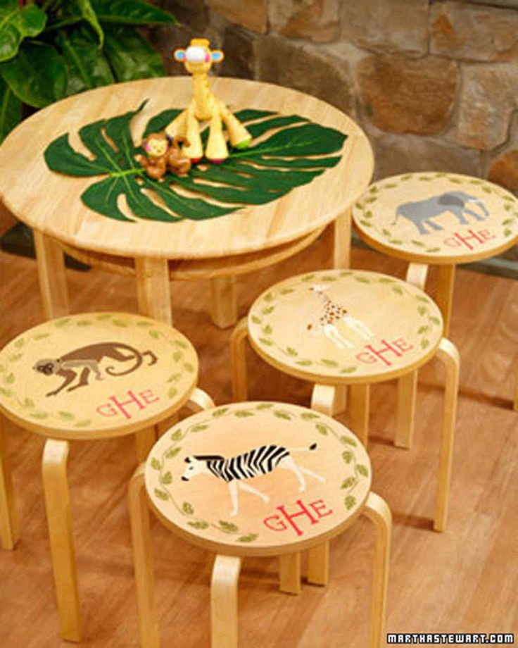"Elisabeth Hasselbeck, cohost of ""The View,"" joins Martha to make stenciled stool tops."