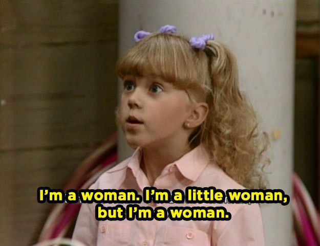 "When she became a budding feminist. | Community Post: 20 Times Stephanie Tanner Was The Baddest Bitch On ""Full House"""