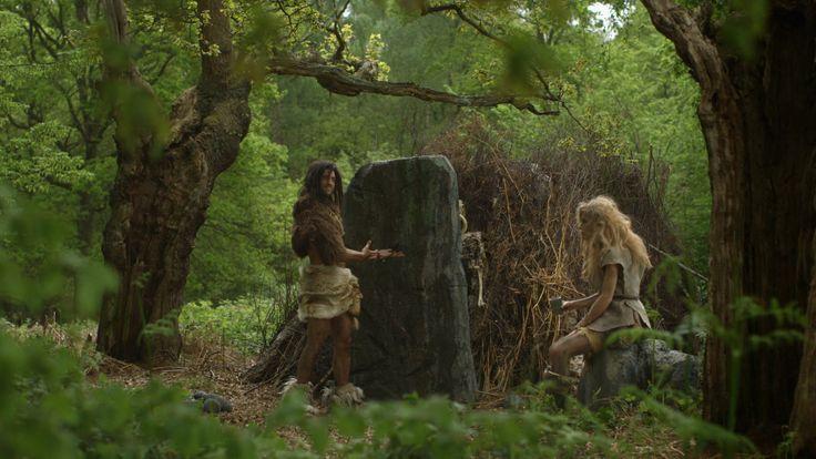 Mrs Neanderthal does not look impressed with this stone door! #anewspeciesofdoor