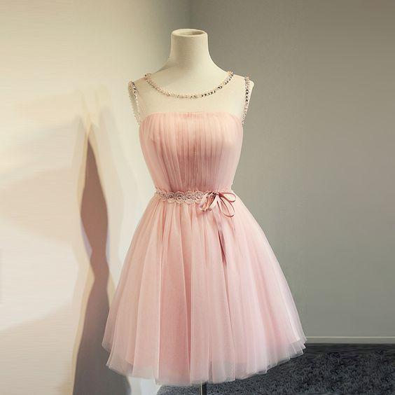 Bg957 Short Homecoming Dress,Tulle Homecoming Dress,Pink Homecoming Dress,Prom