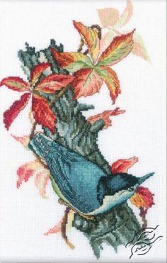 Beautiful Nuthatch - Cross Stitch Kits by RTO - M226