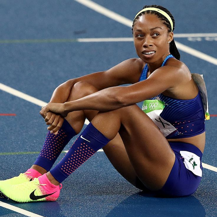 Allyson Felix, the most decorated woman in the history of U.S. Track and Field....