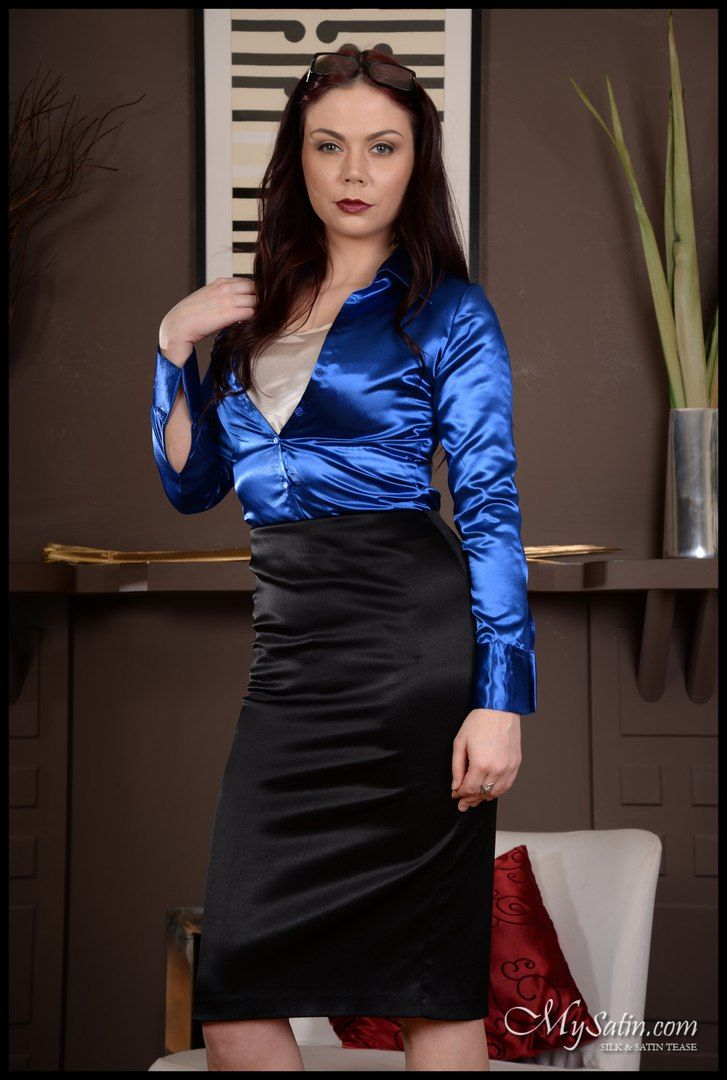 Satin Office Dresses