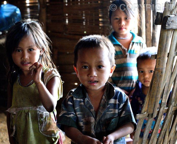 Village Locals - Lahu Village, Luang Namtha