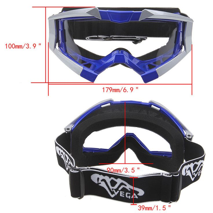 Wind/Dust-proof Glasses Motocross Motorcycle Helmet Goggles Eyewear Bike Riding