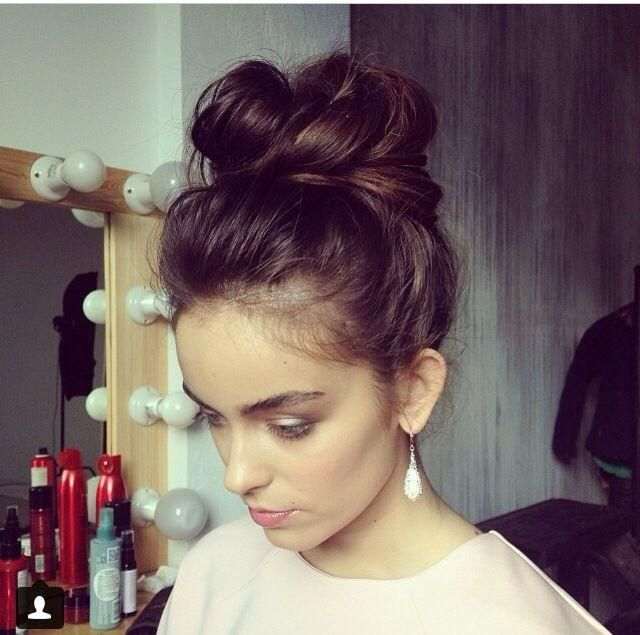 Dark Brown Messy bun