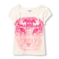Girls Short Sleeve Graphic Top