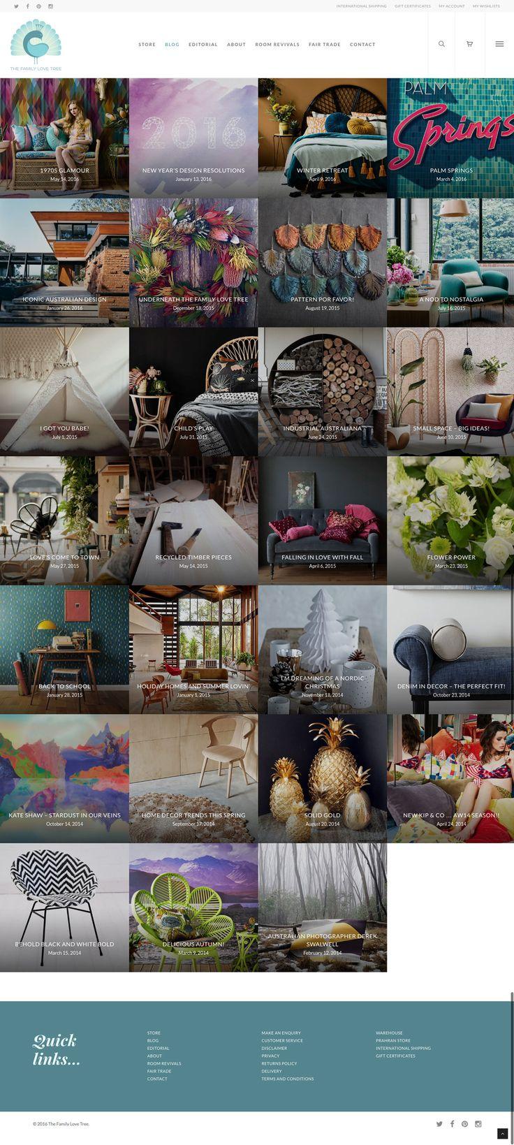 Responsive e-commerce website designed by KORE for The Family Love Tree. Blog index. #responsivedesign #webdesign #wordpress http://kore.digital