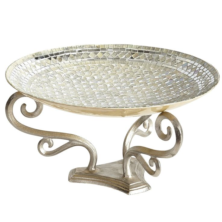 in diameter storage gold garden tray silver home food trays item bowl metal from fruit decor for decorative candy dish