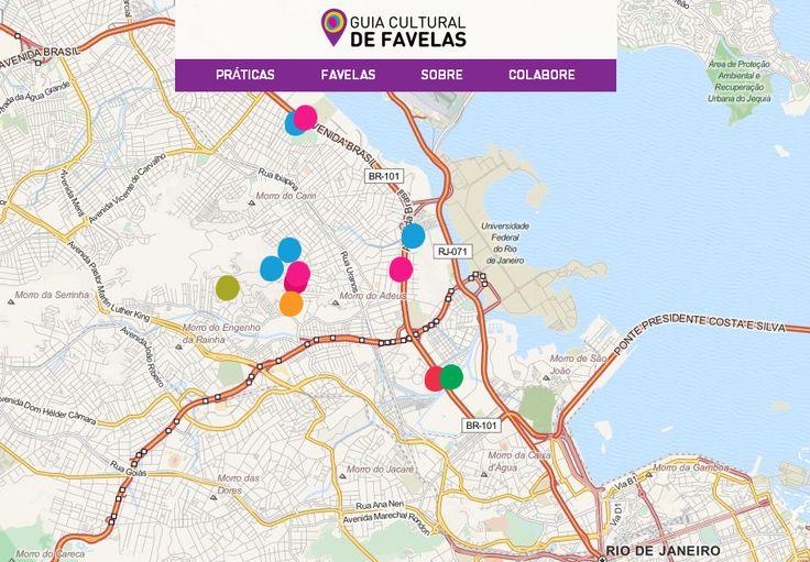Os moradores de seis comunidades cariocas já podem contar com um mapa interativo e colaborativo com informações sobre locais que desenvolvem práticas culturais e ficam perto de suas casas, o Guia Cultural de Favelas