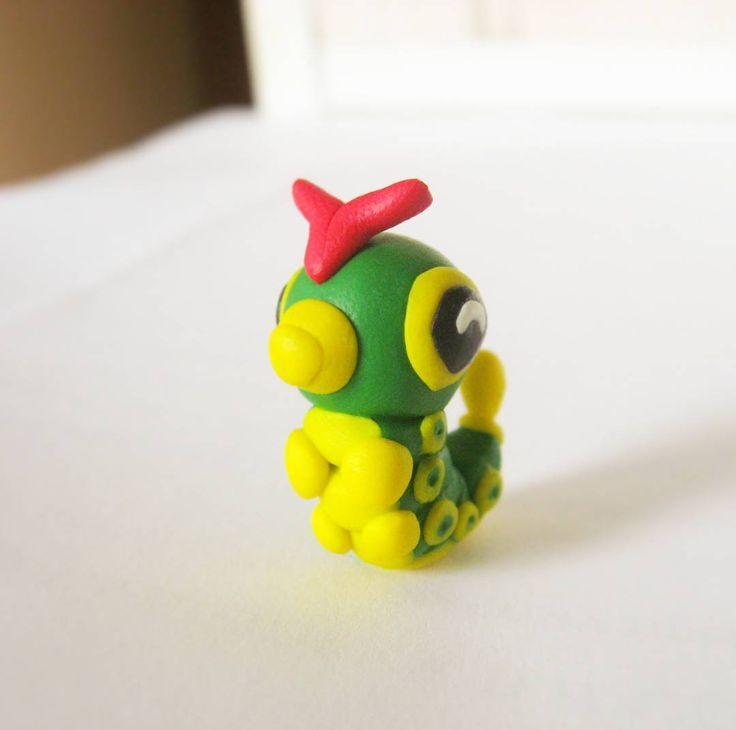 Caterpie pokemon  #polymerclay#clay#fimo#sculpey#polymerclaycreations#polymerclaycharms…