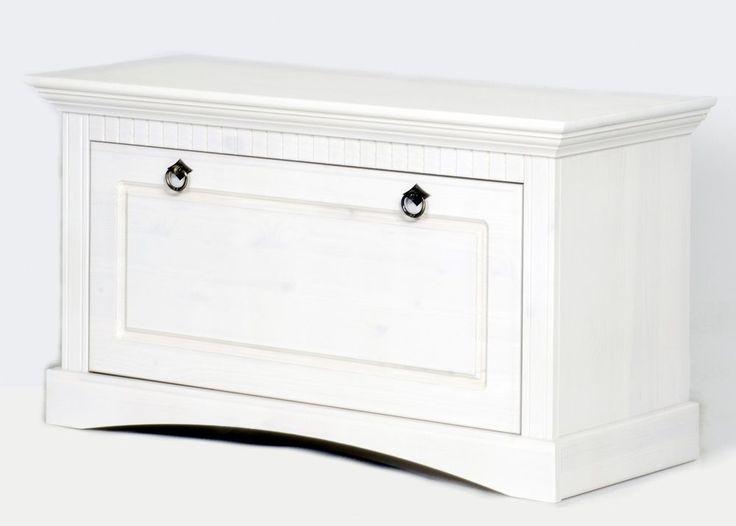 massive Truhe in weiß, Schuhtruhe, Schuhschrank, Bank in Möbel & Wohnen, Möbel | eBay 119 Euro ca. 6 Paar Schuhe bis Gr. 42 Gesamtmaße (B/T/H): 90/38/49 cm.