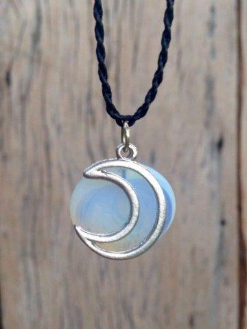 Colar Pedra da Lua e Lua