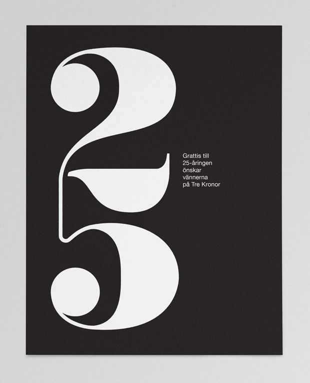 25 – anniversary card in Typography