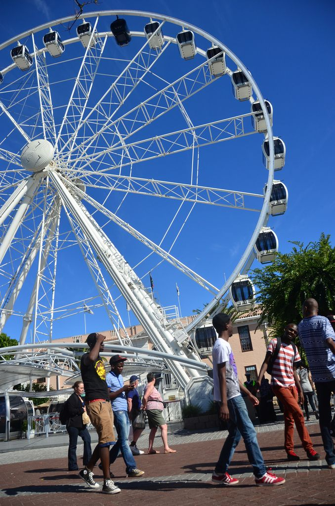 Wheel of Excellence at the Waterfront, Cape Town, South Africa.