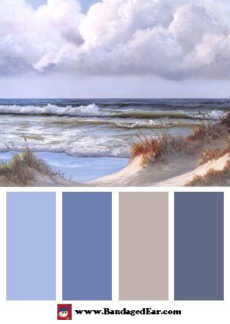 Wave Color Palette: Beautiful Day III Triptych, Art Print by Georgia Janisse