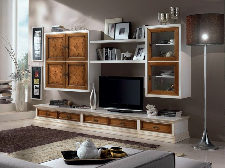 CONTEMPORARY TV wall system by Modenese Gastone group