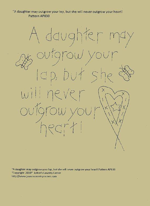 Primitive Stitchery EPattern A daughter may by JoAnnCountryCorner, $2.00
