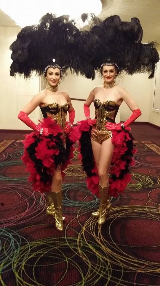 Black & Gold w a touch of red Las Vegas Showgirl Costume