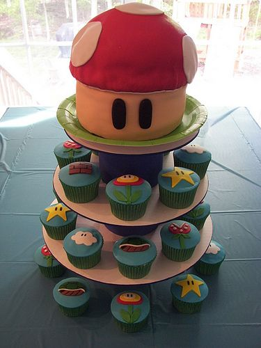 Super Mario Brothers Party by death by cupcake, via Flickr