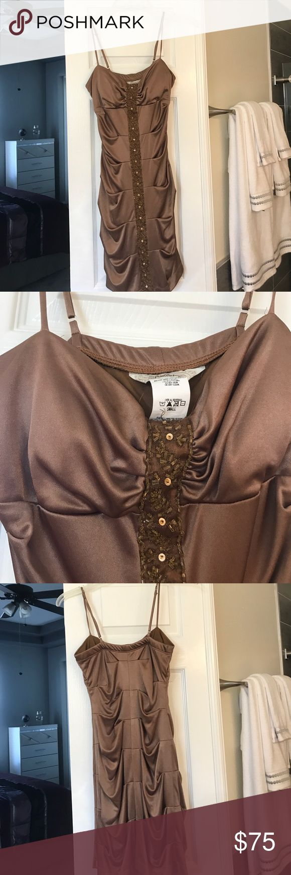 Brown tight dress WILL TAKE OFFERS; Wonderful brown sequence dress for homecoming, prom, going out, or any occasion; brand new Skirts